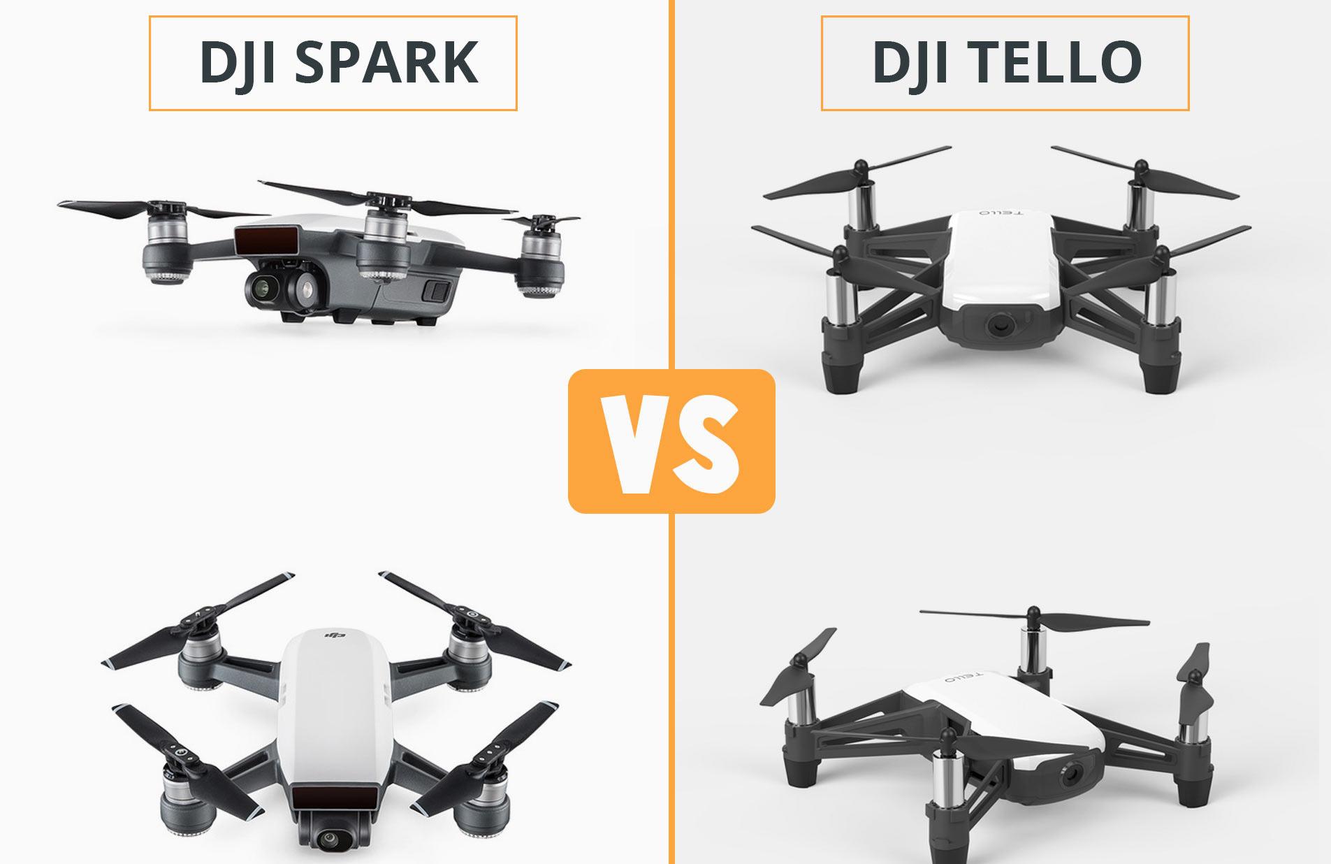 DJI Tello vs. Spark: quel est le meilleur mini drone avec caméra ?