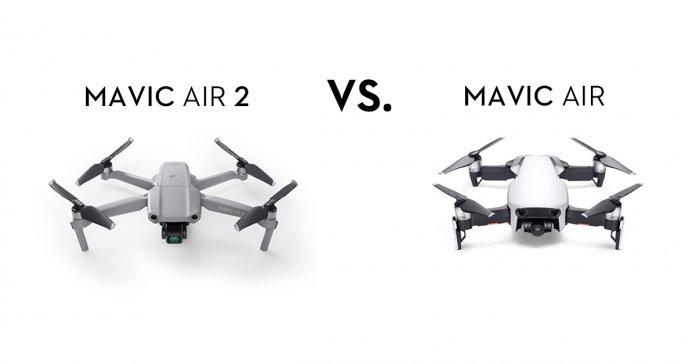 Comparaison drones DJI : Mavic Air 2 contre Mavic Air