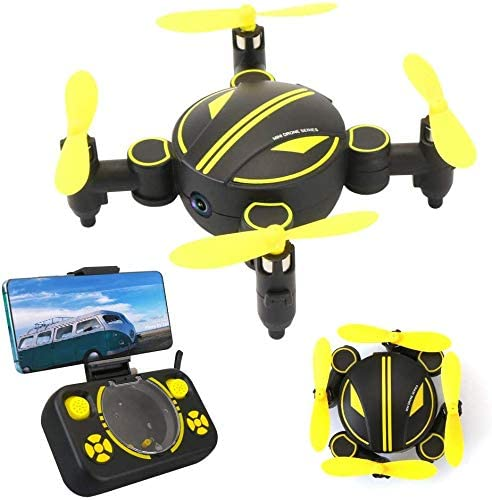 Rabing Drone rc, Mini Drone télécommandable Pliable FPV VR WiFi RC WiFi avec hélicoptère RC caméra HD 720P