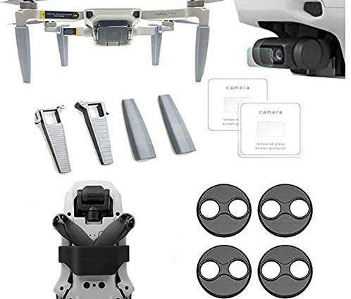 Linghuang Kit d'accessoires pour DJI Mavic Mini Porte-Hélice + Train d'atterrissage + Protecteur d'écran + Capot Moteur Accessoires de Protection pour Drone (Noir)