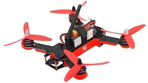 PNJ – Drone de Course R Racer - Ready to Fly - Caméra FPV - Compatible Masque LCD 5.8GHz - Moteurs Brushless - 100km/h - RC 2,4GHz jusqu'à 200m - Cadre en Fibre de Verre - Mallette de Transport