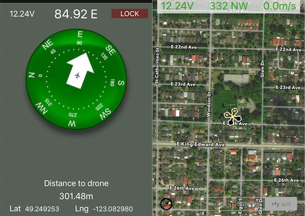 Une application pour retrouver un drone perdu